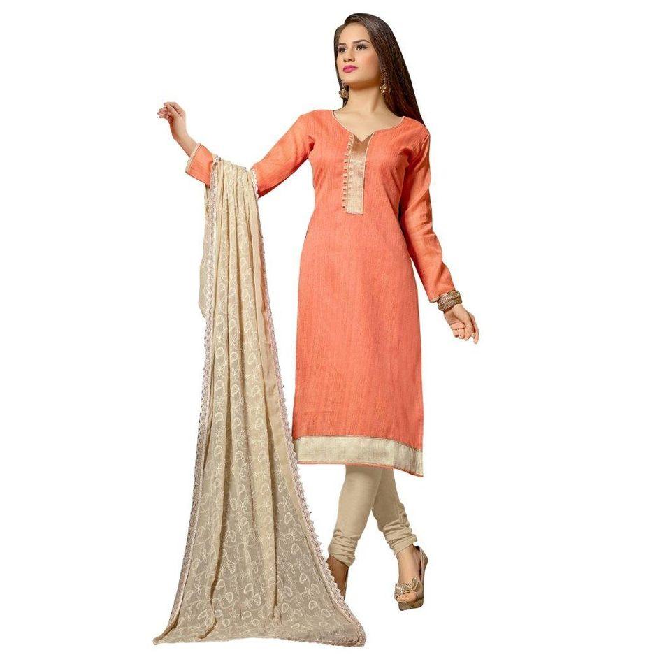 Desinger   Banarasi Chanderi Pattern [Embroidered]  Suit Dress Material