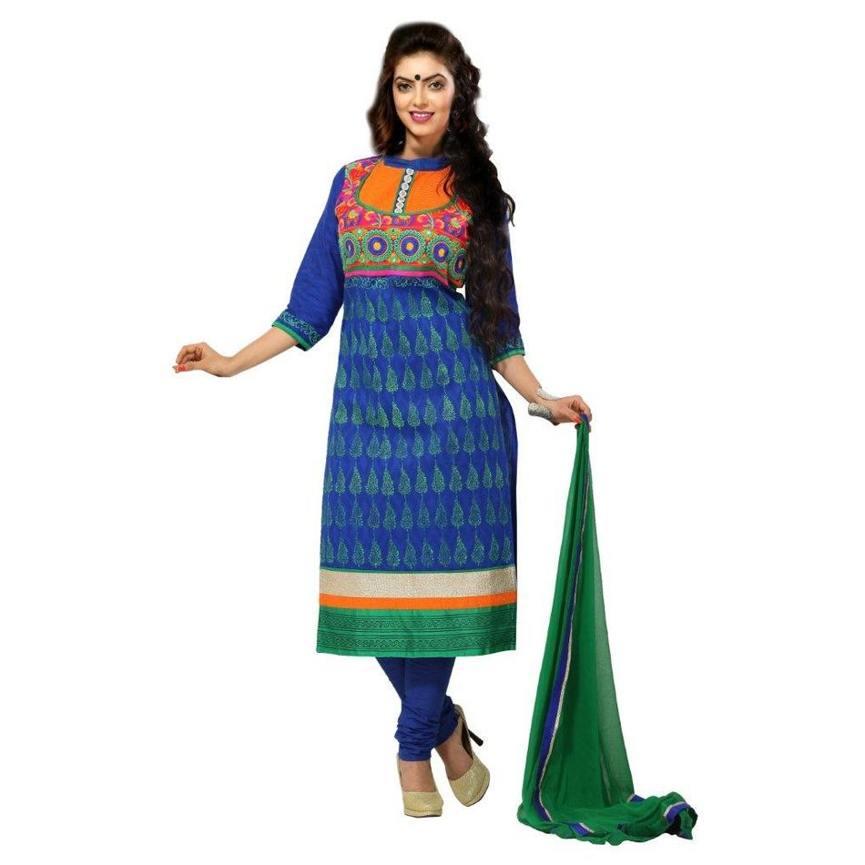 Desinger   Embroidered  Suit Dress Material