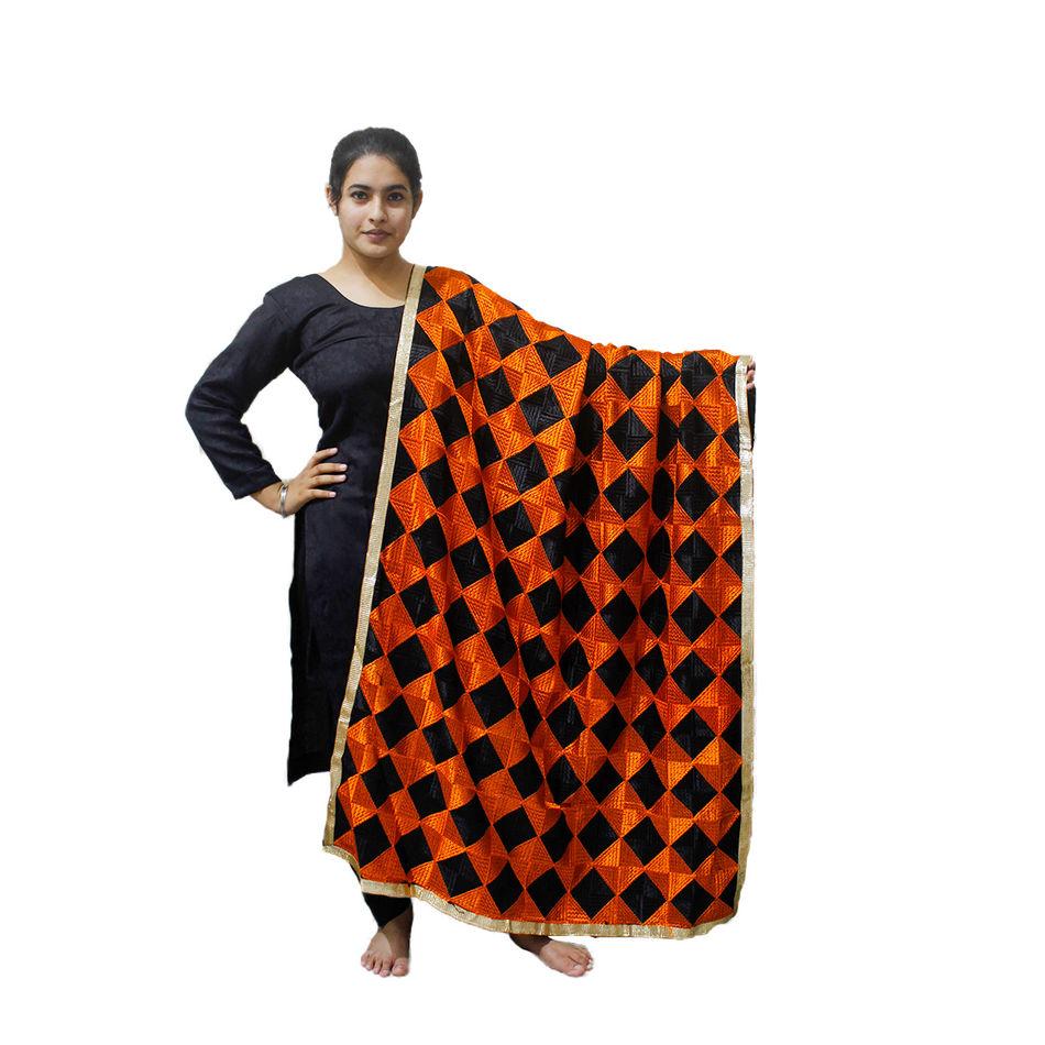 Orange Phulkari Bagh