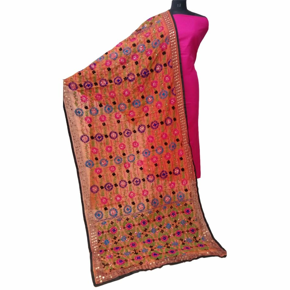 Orange Champa Dupatta