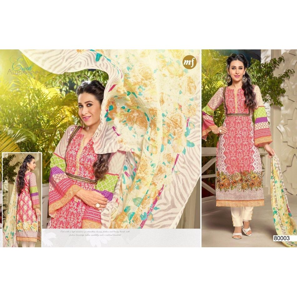 Cotton Embroidery Suit