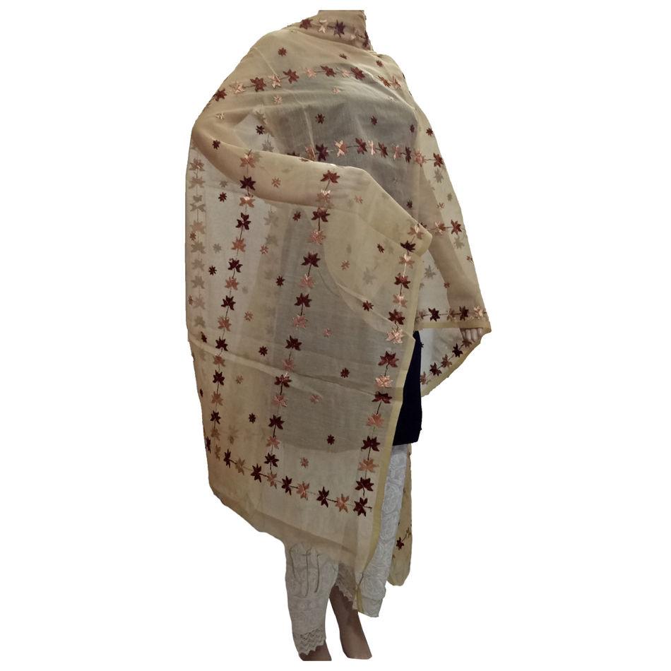 Beige Handicraft Phulkari Dupatta