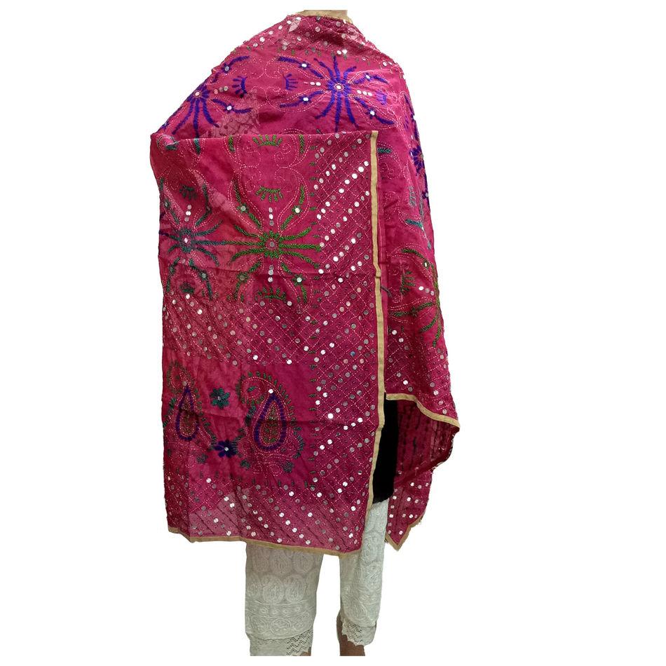 Majenta Kantha Handicraft Dupatta