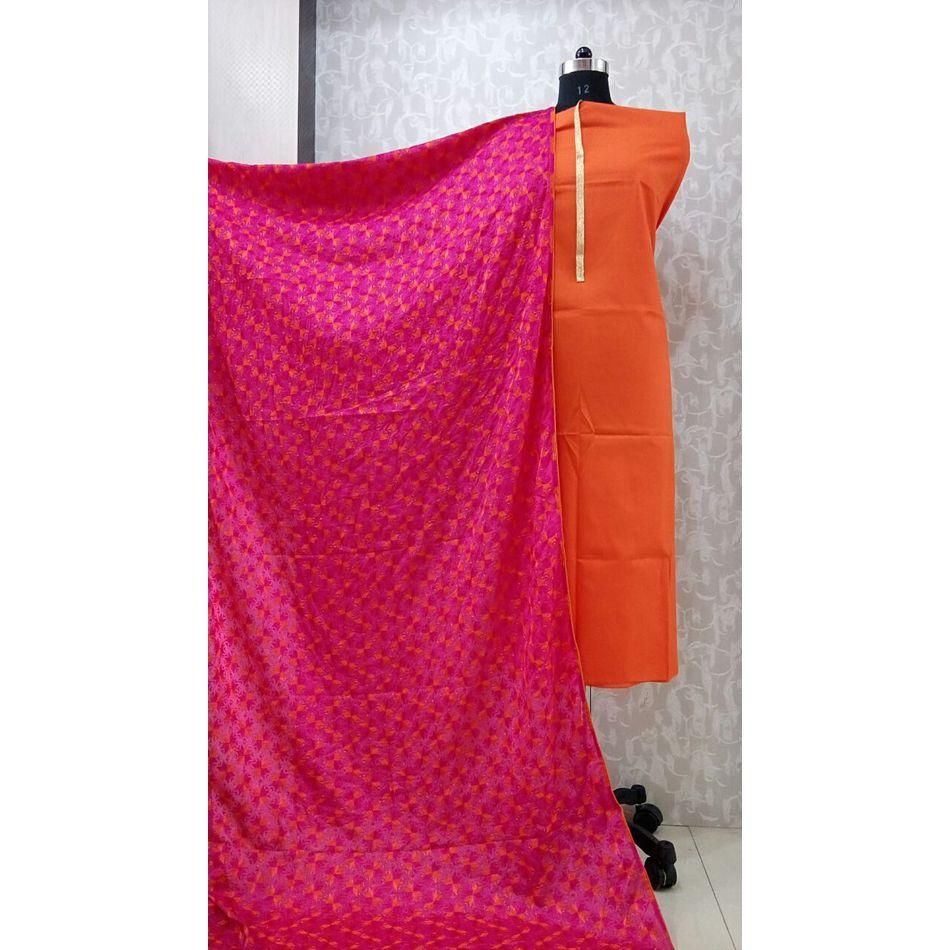 Pink - Phulkari Chinnon Dupatta