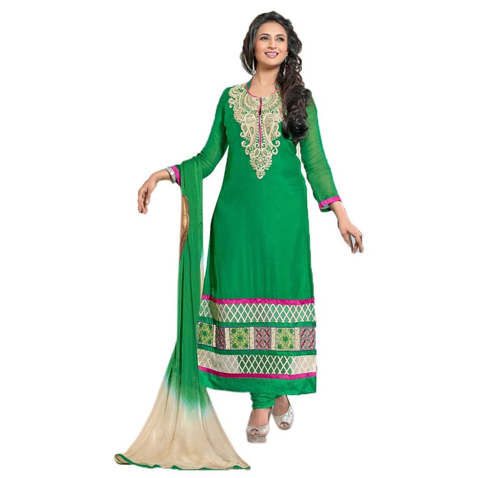 Georgette Staright FitDress Material Salwar Suit