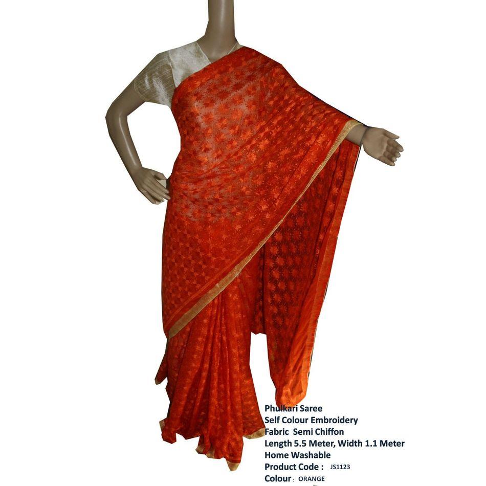 Phulkari Saree