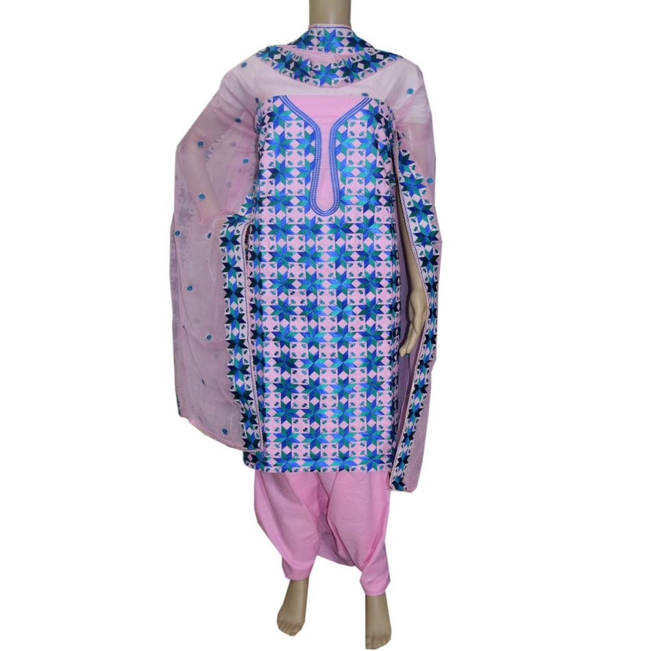 Phulkari Cotton  Suit