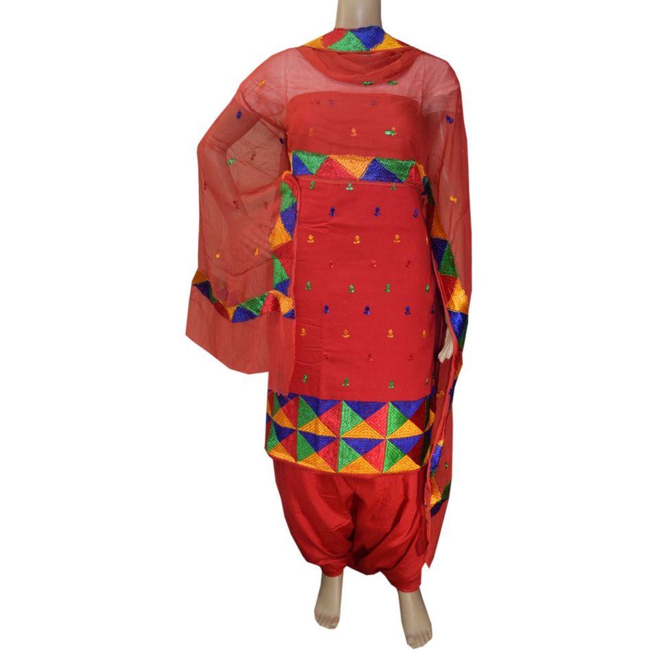 Phulkari Handicraft Suit