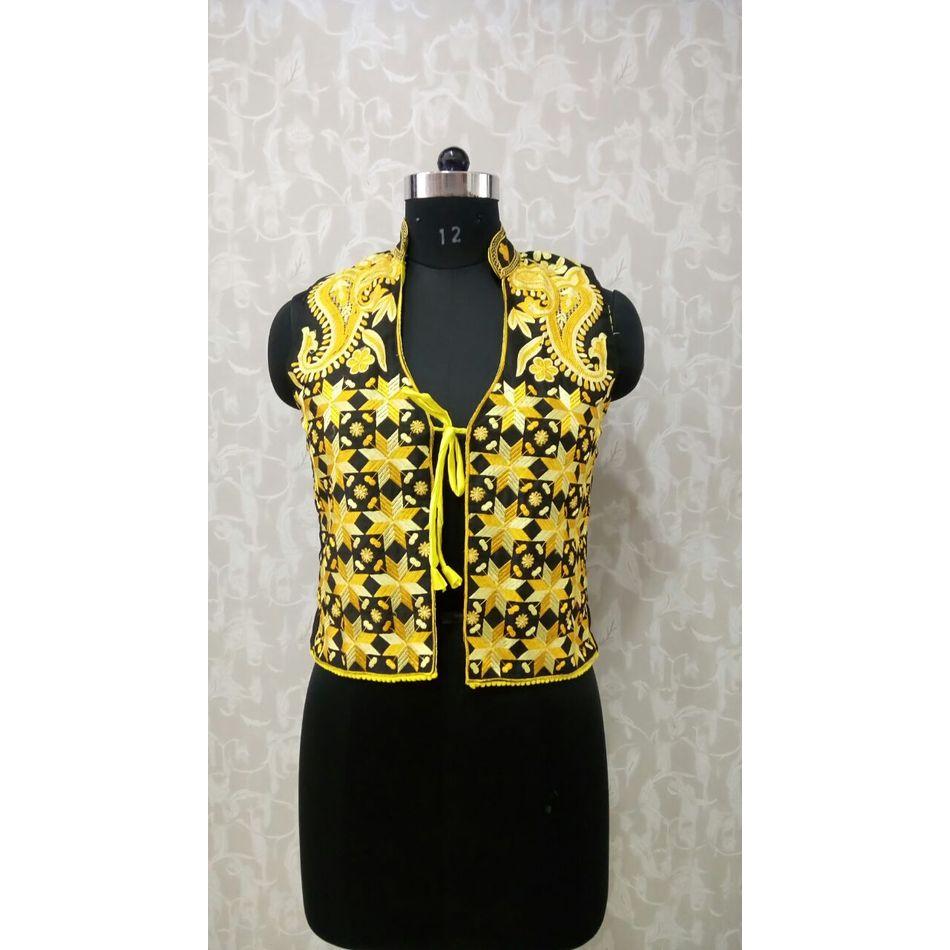 Yellow Phulkari Jacket