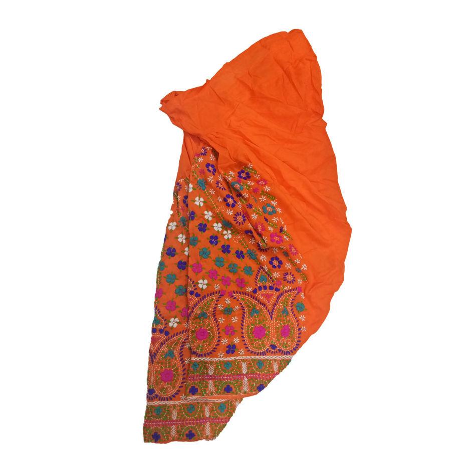 Orange Phulkari Salwar