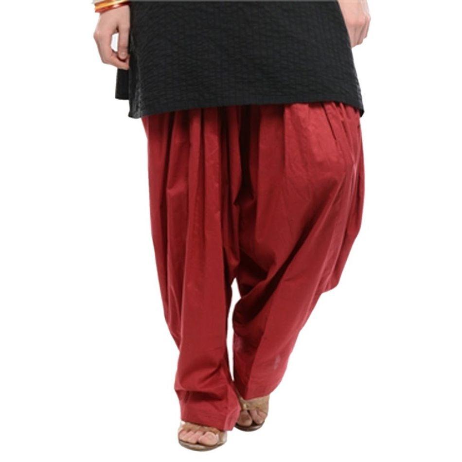 Patiala Shahi Salwar - Maroon Colour