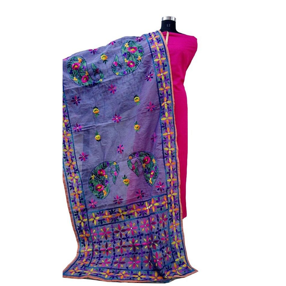 Light Blue Phulkari Dupatta