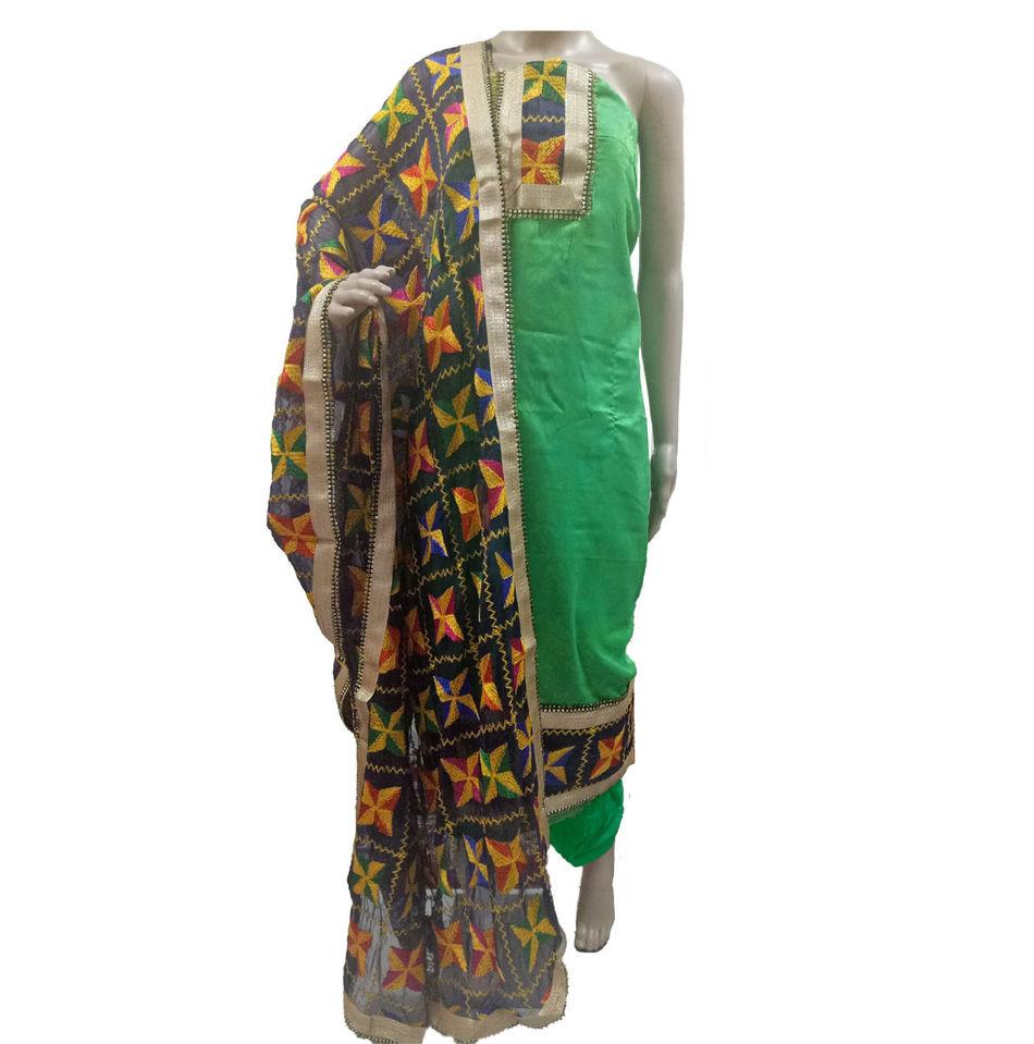 Phulkari suit for wedding