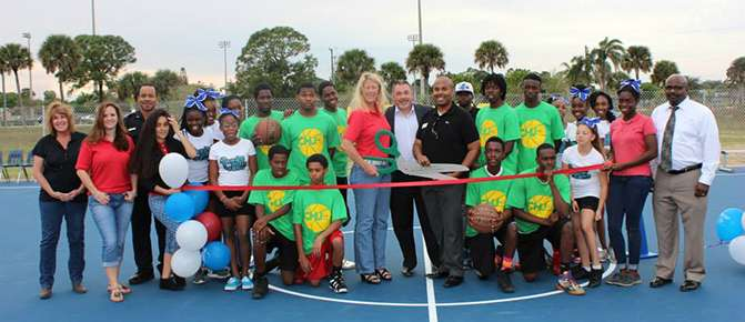 The Court Is Officially Open At The Chuck Hill Unit Thanks To All Of Our Great Supporters