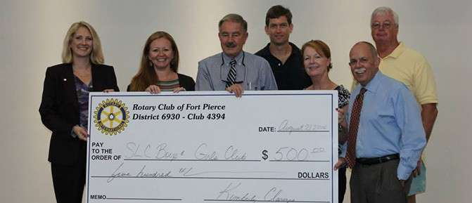 Rotary Club Of Ft. Pierce Visits Garden Terrace Unit