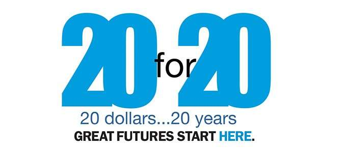 20 For 20 Banner