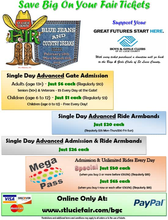 St. Lucie County Fair Specials