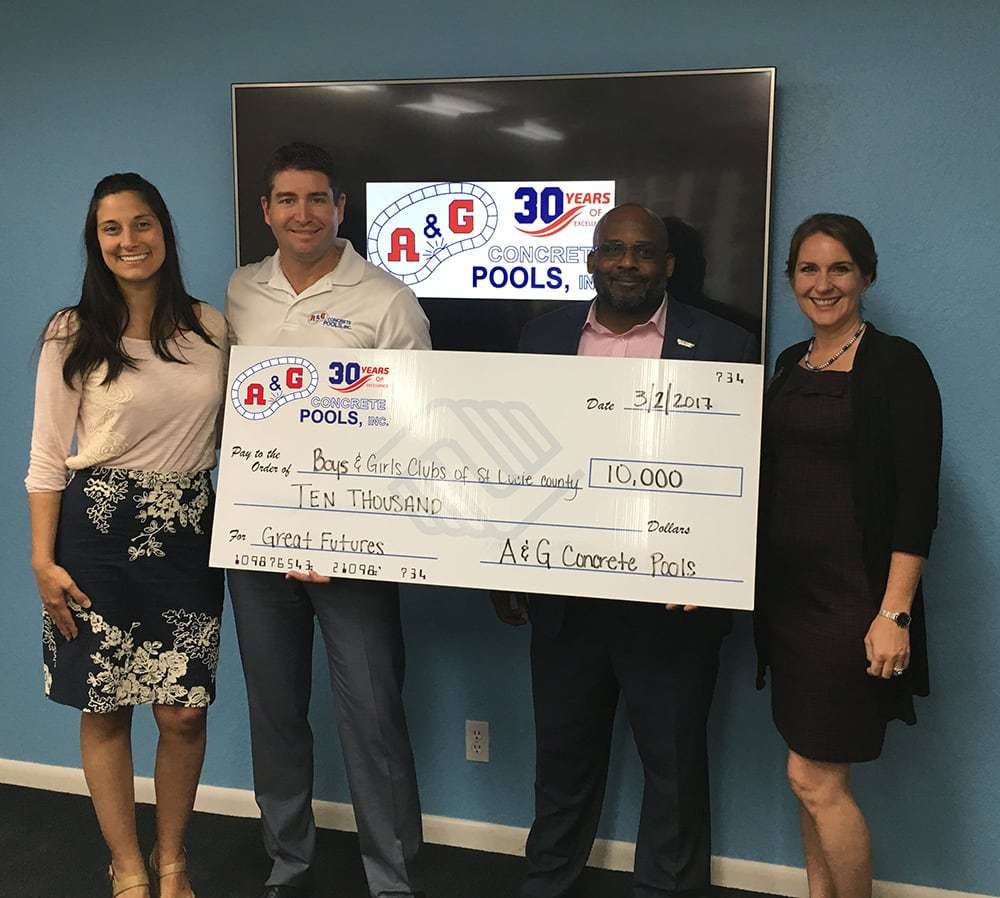 A&G Concrete Pools Supports The Boys & Girls Clubs Of St. Lucie County