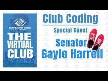 The Virtual Club - Club Coding with Senator Gayle Harrell