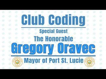 he Virtual club - Club Coding with Mayor Oravec
