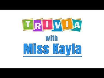 The Virtual Club - Trivia with Miss Kayla (Grades 4-5)