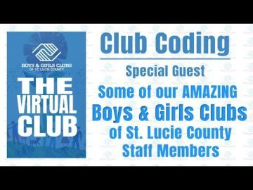 The Virtual Club - Club Coding with our staff