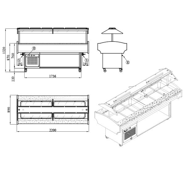GB6 COLD 2 Catering Equipment