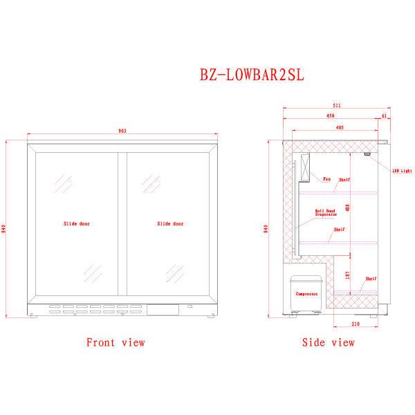 LOWBAR2SL 2 Catering Equipment