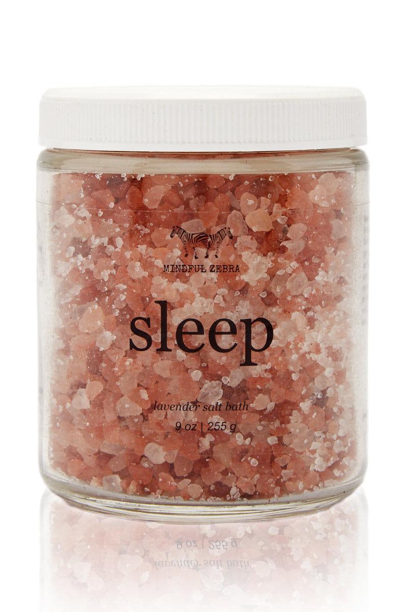 MINDFUL ZEBRA Sleep Lavendar Salt Bath Beauty | Sleep Lavendar Salt Bath