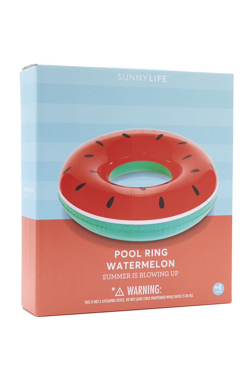 SUNNYLIFE Watermelon Pool Ring Pool Accessories | Watermelon| sunnylife watermelon pool ring