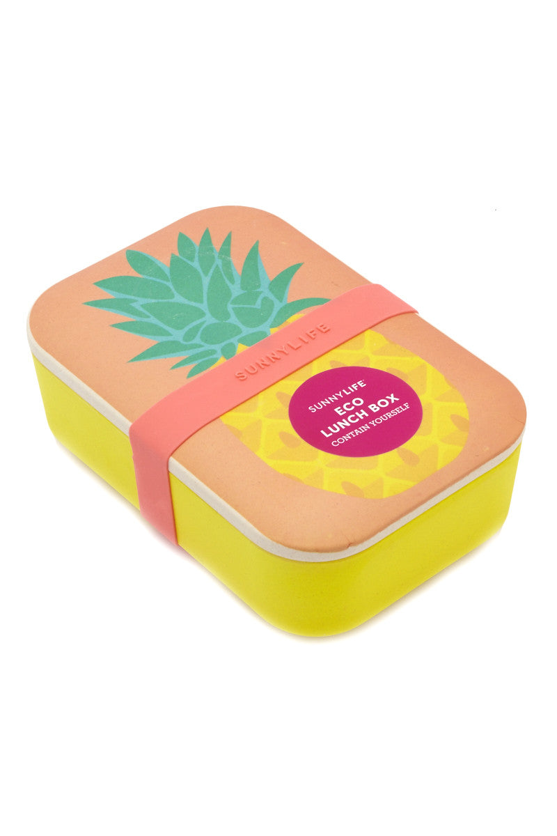 SUNNYLIFE Pineapple Eco Lunch Box Accessories | Pineapple| sunnylife eco lunch box