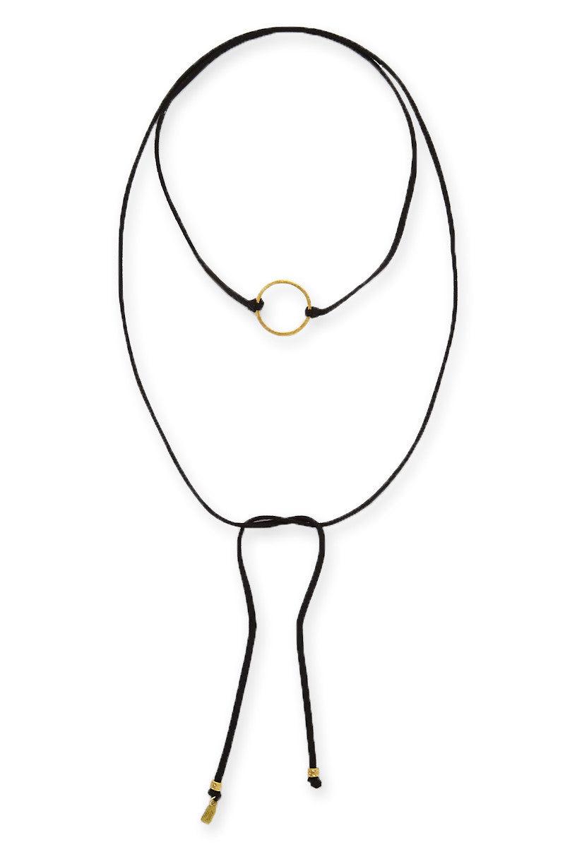 ELECTRIC PICKS The Circle Wrap Necklace - Black Jewelry   Black  Electric Picks The Circle