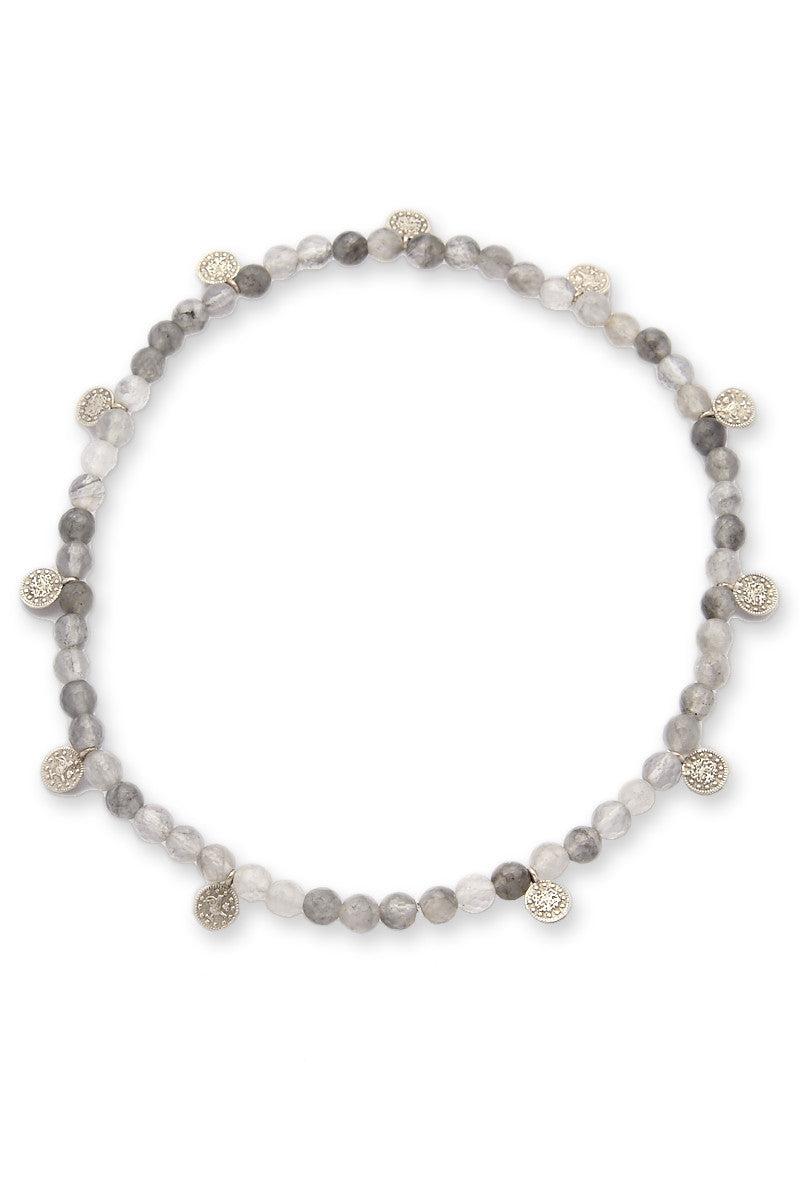 ELECTRIC PICKS Pocket Change Bracelet Jewelry | Grey Quartz| Electric Picks Pocket Change