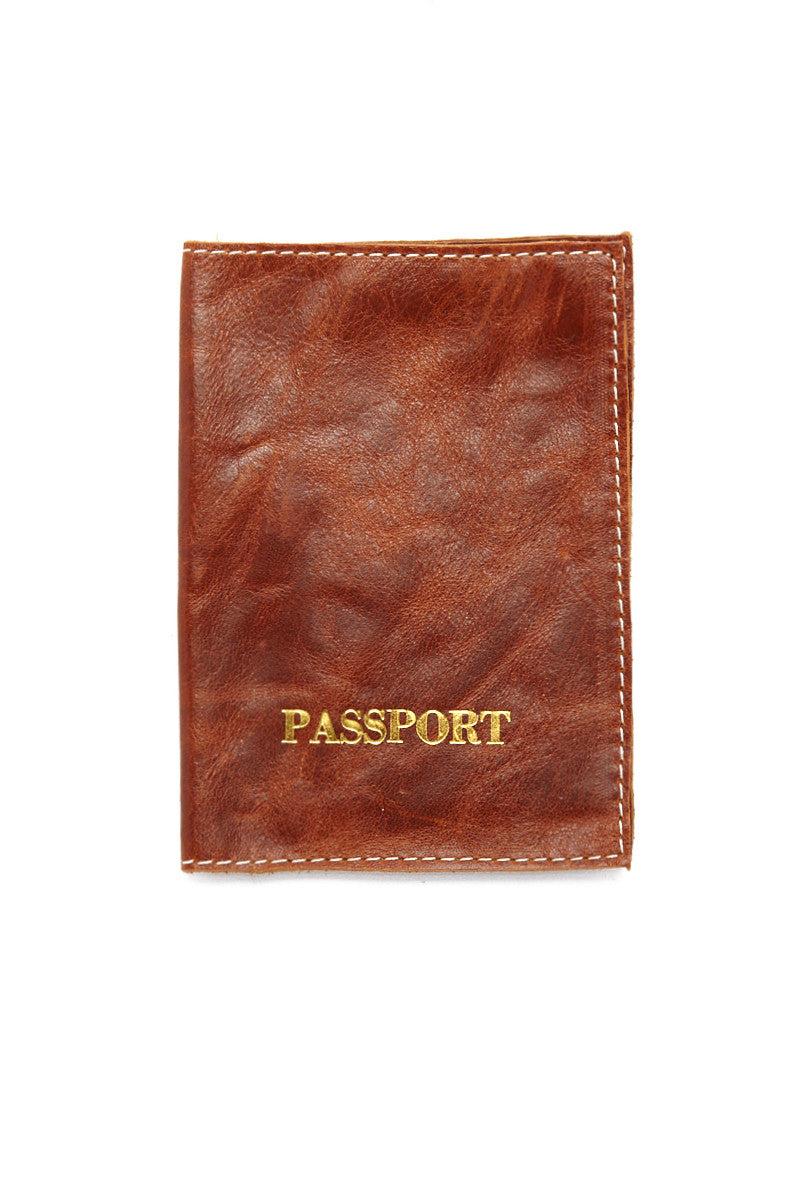 Blythe Leonard Caramel Passport Cover Gold Bikinicom Accessories
