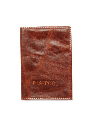 BLYTHE LEONARD Caramel Passport Cover - Brown Accessories | Brown| Blythe Leonard Caramel Passport Cover - Brown