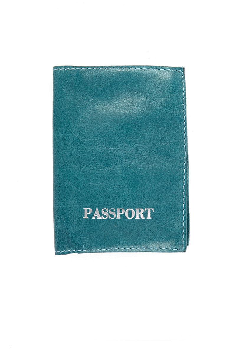 BLYTHE LEONARD Bermuda Passport Cover Accessories | Bermuda Blue| Blythe Leonard Bermuda Passport Cover