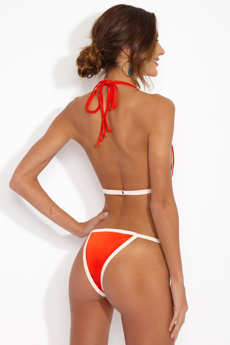 be75dd31e61e0 WE ARE HAH HAHt Seat Brazilian Cut Bikini Bottom - Blood Orange Bikini  Bottom