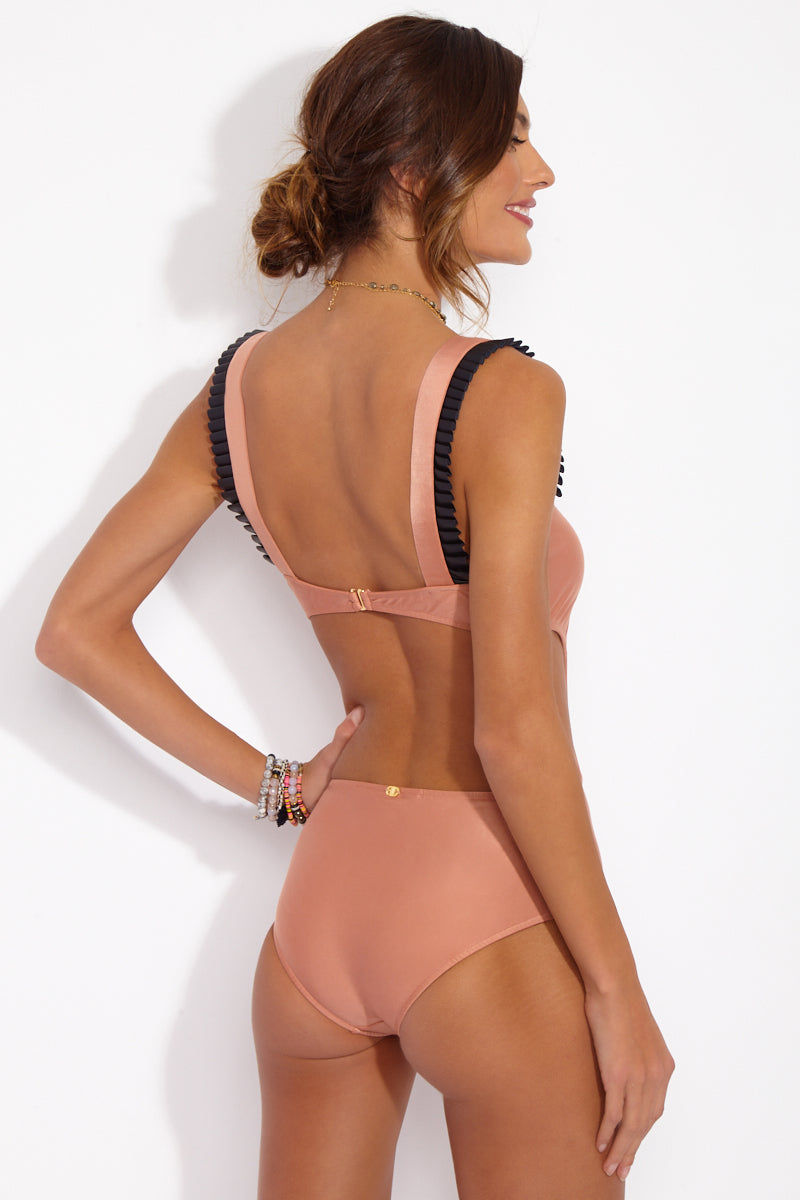 ADRIANA DEGREAS Cut-Out One Piece One Piece | Rose| Adriana Degreas Cut-Out One Piece