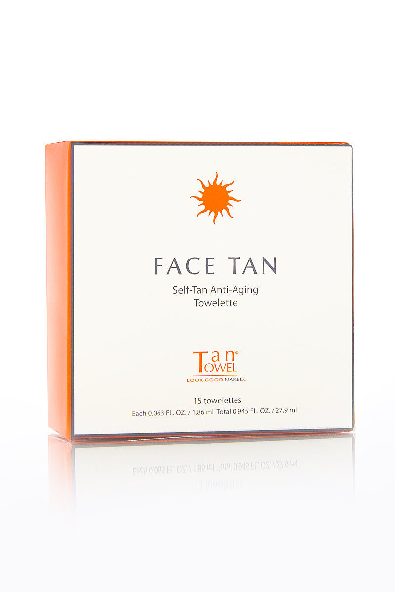 TAN TOWEL Self Tan Anti Aging Face Towelettes Beauty | Tan Towel Self Tan Anti Aging Face Towelettes Front View