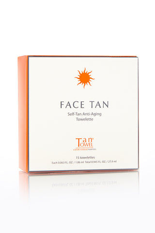 TAN TOWEL Face Tan Beauty | Tan Towel Face Tan Front View