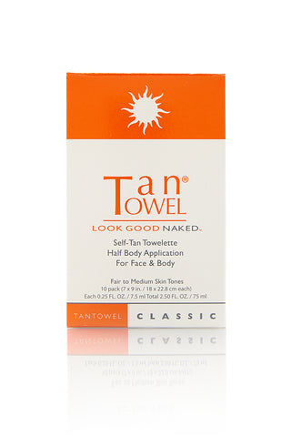 TAN TOWEL Half Body Classic Beauty | Tan Towel Half Body Classic front view