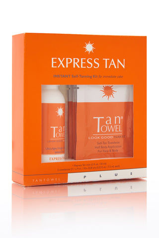 TAN TOWEL Express Tan Plus Kit Beauty | Tan Towel Express Tan Plus Kit front view