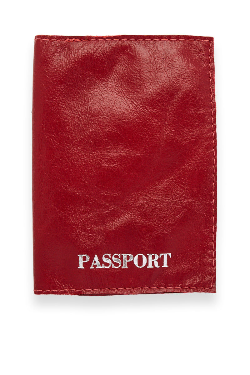 BLYTHE LEONARD Red Passport Cover - Red/Silver Accessories | Red/Silver| Blythe Leonard Red Passport Cover