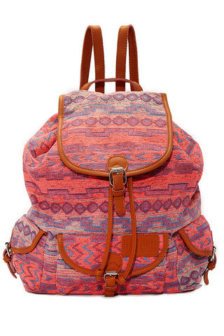 BEACH GYPSY'S Large Bohemian Jacquard Backpack - Sunset Bag | Sunset| Beach Gypsy's Bohemian Backpack