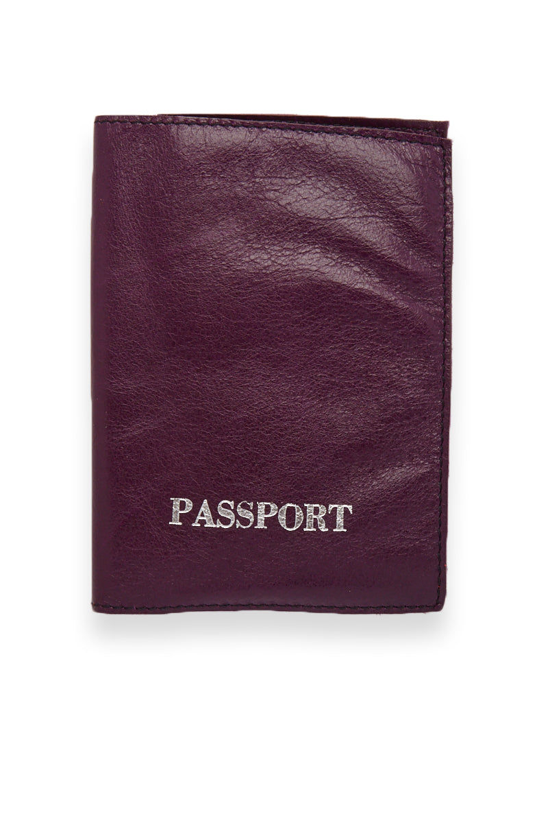 BLYTHE LEONARD Purple Passport Cover Accessories | Purple/Silver| Blythe Leonard Purple Passport Cover