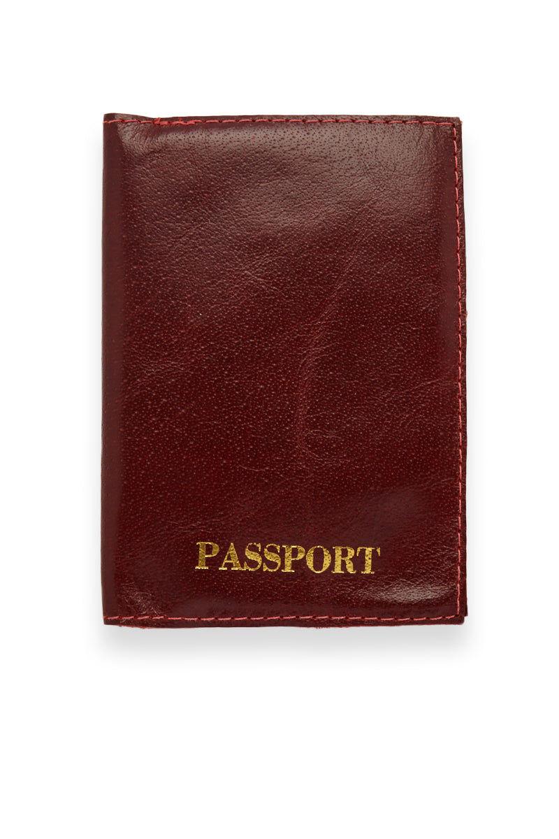 BLYTHE LEONARD Burgundy Passport Cover - Burgundy/Gold Accessories | Burgundy/Gold| Blythe Leonard Burgundy Passport Cover