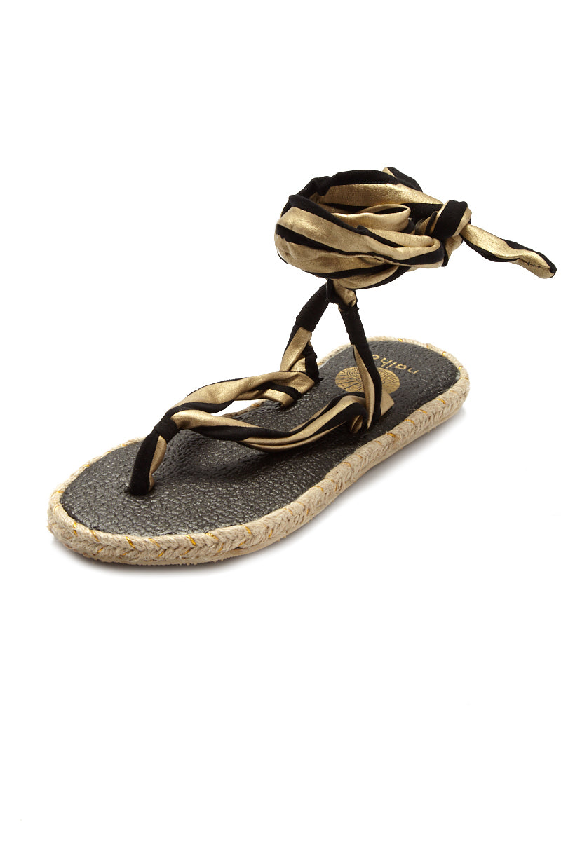 NALHO Karabi Metalic Sandals Sandals   Gold/Black  Nalho Karabi Metalic Sandals