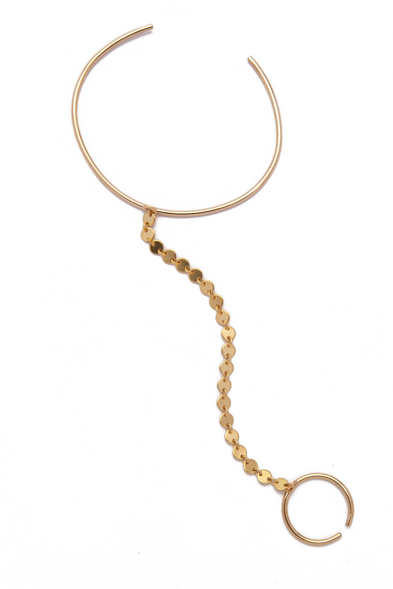 PARADIGM DESIGN Gold Meridian Hand Piece Jewelry | Gold| Paradigm Design Gold Meridian Hand Piece
