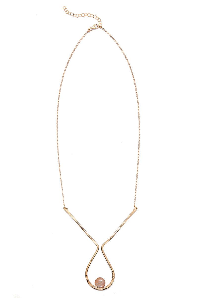 PARADIGM DESIGN Idol Moonstone Necklace - Gold Jewelry | Gold| Paradigm Design Gold Idol Moonstone Necklace