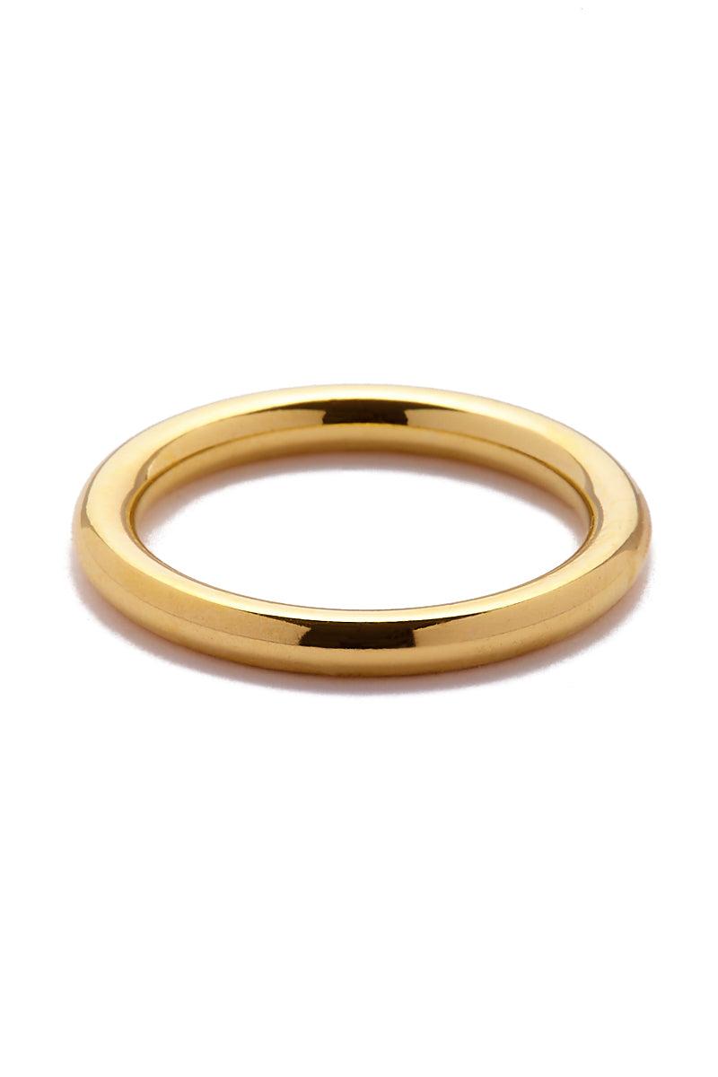 EKLEXIC Gold 2.5 MM Round Ring Jewelry | Yellow Gold|